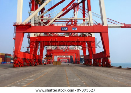 Container terminal Qingdao port of China