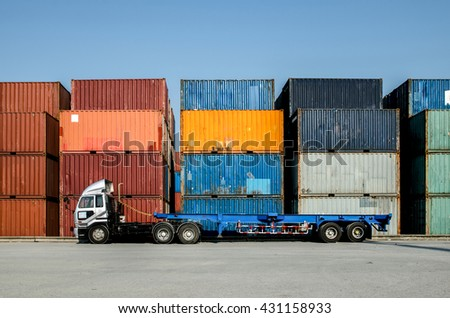 Container truck in Container yard
