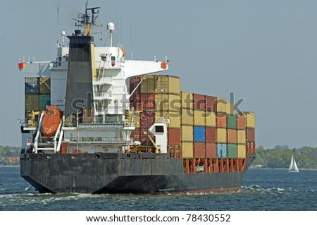 Container vessel, feeder