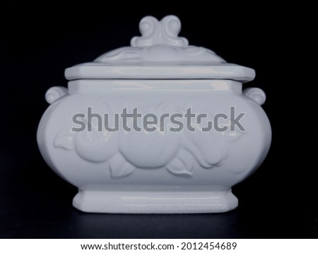 Container white porcelain utensil objet Photo stock ©
