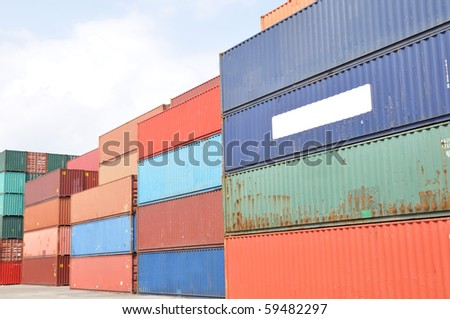 containers in the harbor