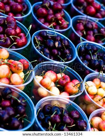 Containers of Cherries