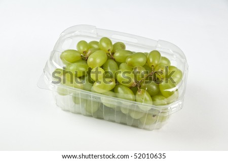 containers plastic transparency and film with food, fruit and vegetable