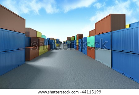 containers rows on container site