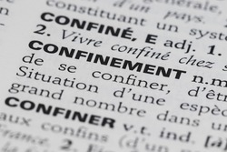 Containment - Definition of word in the French dictionary