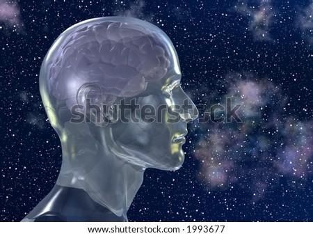 Contemplando os mistérios do universo - stock photo