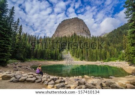 Contemplation at Mirror Lake, Banff National Park, Alberta, Canada