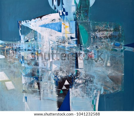 Contemporary abstract fine art work-painting