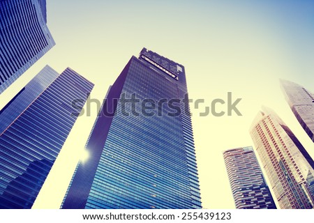 Contemporary Architecture Office Building Cityscape Personal Perspective Concept #255439123
