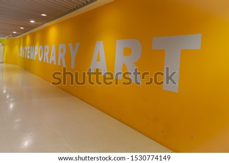 Contemporary Art in Yellow Background #1530774149
