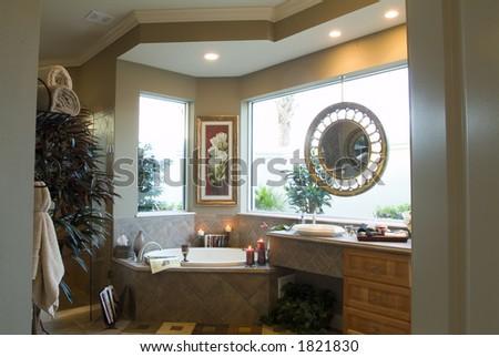 Contemporary bathroom home interior design lifestyle