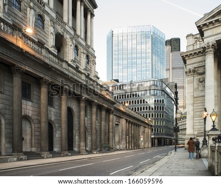 Contemporary Buildings in city of London #166059596