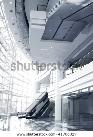 Contemporary Corporate Building Interior (Duotone)