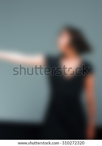 Contemporary dance performance blur background with shallow depth of field bokeh effect