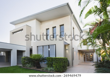 Contemporary house exterior on the Gold Coast, Queensland, Australia