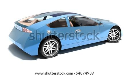 Contemporary hybrid sports car. MY OWN DESIGN , no trademarks.