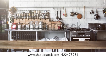 Contemporary Kitchen Appliance Cooking Spices Concept