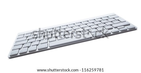 Contemporary light keyboard of laptop