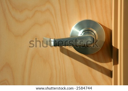 contemporary modern door handle that provide easy access for handicapped or disabled