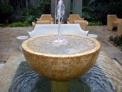 Contemporary Patio Fountain