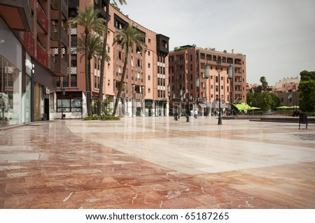 Contemporary square in Marrakech, Morocco