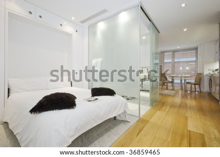 contemporary suite apartment with living areas