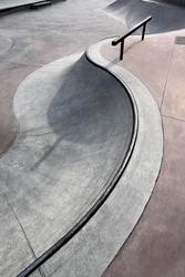 contemporary urban design concrete skatepark