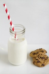 Contemporary vertical image Santa's snack with clear space for text