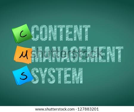 Content Management System illustration design over a white background