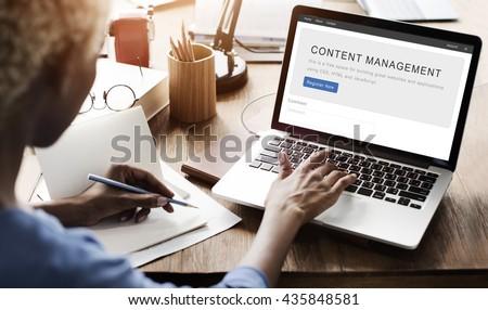 Content Management System Strategy Web Concept