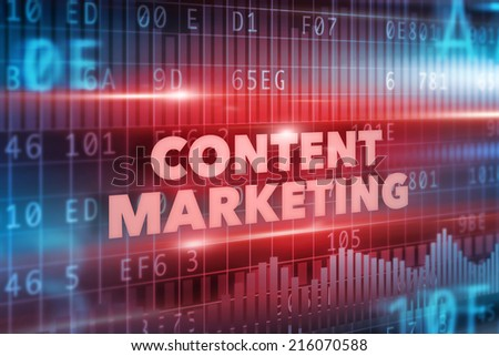 Content marketing concept red background red text