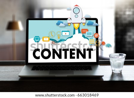 content marketing Content Data Blogging Media Publication Information Vision Concept - Shutterstock ID 663018469