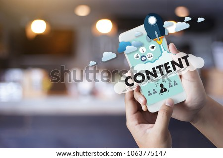 CONTENT marketing Data Blogging Media Publication Information Vision Content Concept