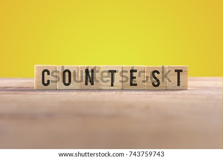 Contest word with yellow background #743759743