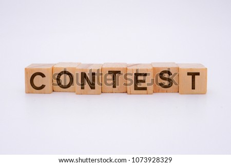 CONTEST Word Written In Wooden Cube #1073928329