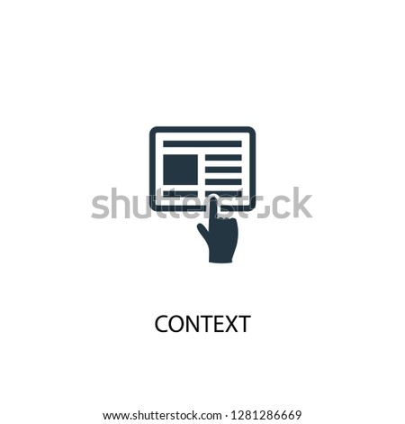 context icon. Simple element illustration. context concept symbol design. Can be used for web and mobile.