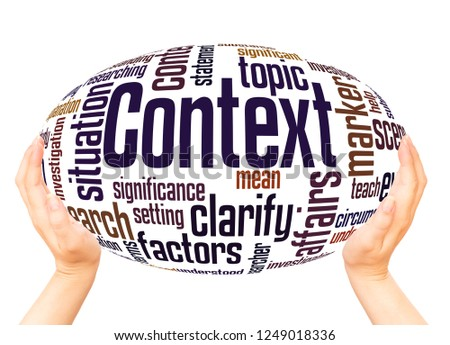 Context word cloud hand sphere concept on white background. Сток-фото ©