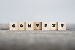 CONTEXT word made with building blocks