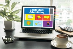 Contextual Advertising Computing Computer  Laptop with screen on table