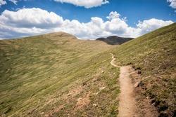 Continental Divide Trail in Colorado, USA