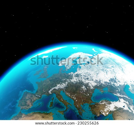 Continental Europe viewed from outer space - Elements of this image furnished by NASA