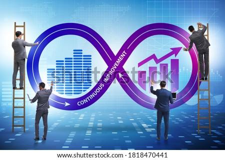 Continuous improvement concept in business Stok fotoğraf ©