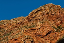 Contorted rock formations in the Swartberg pass near Prince Albert in South Africa