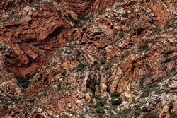 Contorted rock formations in the Swartberg pass near Prince Amlbert in South Africa