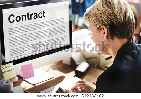 Free Contract Agreement Commitment Obligation Negotiation Concept