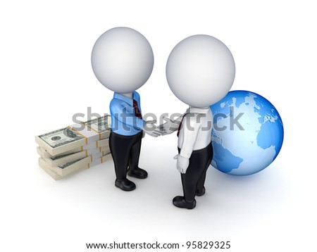 Contract concept.Isolated on white background.3d rendered.