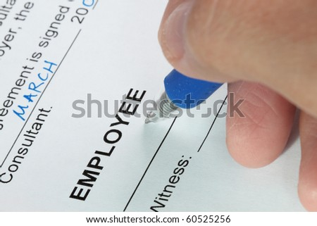 ... Careful Signing Employment Contract ...