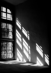 Contrast light from a window in the castle in Lviv