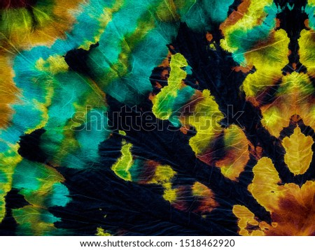 Contrast Vibrant Design .Fantastic Tie Dye Painting Art. Abstract Dyed Texture. Futuristic Ink Washes Drib Banner. Modern Fashion Watercolour. Yellow Vibrant Design