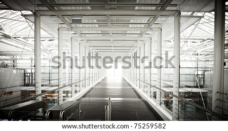 contrasty airport gangway in munich germany